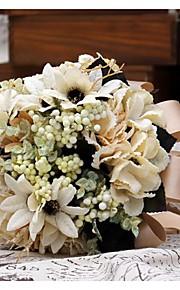 Bouquet sposa Tondo Peonie Bouquet Matrimonio Raso 30cm