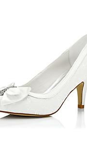 Homme-Mariage / Habillé / Soirée & Evénement-Ivoire-Talon Aiguille-Confort-Chaussures à Talons-Soie