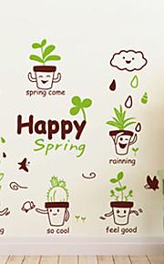 Животные / ботанический / Натюрморт Наклейки Простые наклейки Декоративные наклейки на стены,PVC материал Съемная / Положение регулируется