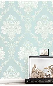 אריג טפט (Damask) / פרחוני / ארט דקו / 3D טפט עבור בית קלאסי וול כיסוי , נייר לא ארוג חוֹמֶר דבק נדרש טפט , Wallcovering חדר