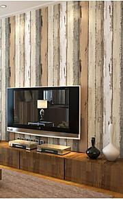 Rayure Fond d'écran pour la maison Contemporain Revêtement , Tissu Non-Tissé Matériel adhésif requis fond d'écran , Chambre Wallcovering