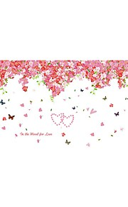 Wall Stickers Wall Decals Style Romantic Cherry Blossoms PVC Wall Stickers