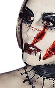 2pcs Zombie Horror Fancy Wound Scars Gore Halloween Costume Temporary Tattoo Sticker