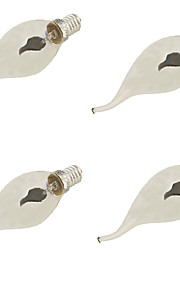 1.5 E14 LED-lysestakepærer A60(A19) 1 Høyeffekts-LED 120 lm Rød Dekorativ AC 220-240 V 4 stk.