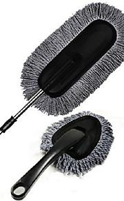 dos piezas de cepillo de cera de color gris establecer la limpieza del coche cera de arrastre fijado nano plumero coche