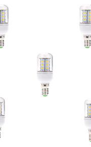 7W E14 Ampoules Maïs LED T 24 SMD 5730 580LM lm Blanc Chaud / Blanc Froid Décorative AC 100-240 V 5 pièces