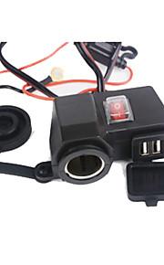 intelligent stikkontakt integration usb strømadapter oplader socker til motorcykel