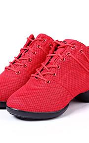 Zapatos de baile(Negro / Rojo) -Zapatillas de Baile-No Personalizables-Tacón Plano