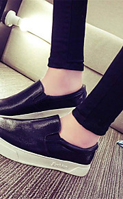 Women's Loafers & Slip-Ons Spring / Summer / Fall Comfort PU Outdoor / Casual Flat Heel Others Black / Silver