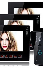 800*480 120 CMOS deurbelsysteem Draadloos Meergezins video deurbel