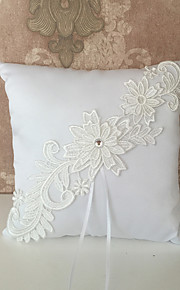 White 1 Ribbons / Embroidery Satin