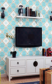 Fashion Simple Plaid Blue Grey Wallpapers For Living Room Bedroom Kids Room Wall Decor Modern Home Wallpaper