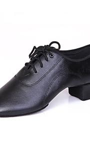 Для мужчин-Кожа-Не персонализируемая(Черный) -Латина / Танцевальные кроссовки