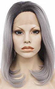 Lace Wig Parykker til kvinner Grey Gradient costume Parykker Cosplay Parykker