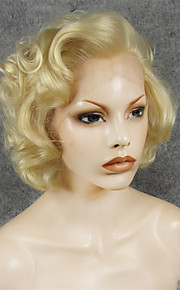 IMSTYLE 10Hot Selling Short 613Blonde Big Curly Synthetic Lace Front Wig