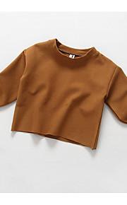 Mädchen Bluse-Lässig/Alltäglich einfarbig Baumwolle Herbst / Frühling Beige