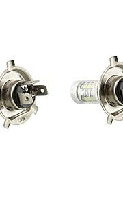 2 PCS  80W H4 16SMD  6500K -7000K  White Car   Light LED Bulb for Car Headlamp Fog Light     DC12-24V