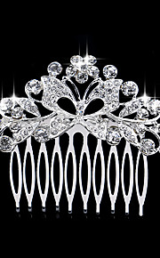 6*6 cm Hair Combs with Butterfly Crystal for Lady Women Wedding Party Headpiece Hair Jewelry