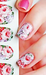 1 Nagel-Kunst-Aufkleber Wassertransfer Abziehbilder Blume Make-up kosmetische Nail Art Design