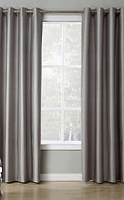 Deux Panneaux Le traitement de fenêtre Moderne , Solide Chambre à coucher Polyester Matériel Rideaux occultants rideauxDécoration