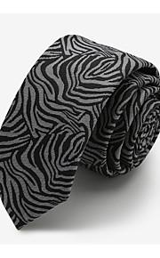 Men Party / Work / Casual Neck TiePolyester LeopardBlack All Seasons