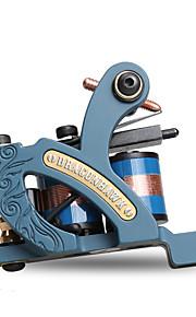 Professional Coil Tattoo Machine Cast Iron Coloring Tattoo Machine Dual Coils 10 Wraps