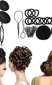 8 typen magi braiders knopp hode ball head disk donuts oppvask hår frisør verktøy for kvinner hår tilbehør