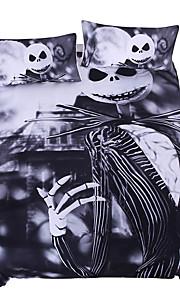 Fantaisie Ensembles housse de couette 3 Pièces Polyester/Coton Dessin-Animé Imprimé Polyester/CotonLit 1 Place / Lit 2 Places / Lit 2