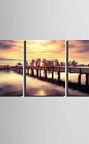 Landschaft Leinwand drucken Drei Paneele Fertig zum Aufhängen,Horizontal
