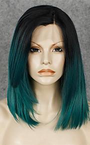 Lace Wig Parykker til kvinner Grønn costume Parykker Cosplay Parykker