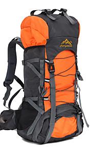 60 L mochila / Mochila Acampada y Senderismo / Viaje Al Aire Libre / RendimientoSecado Rápido / A Prueba de Golpes / Listo para vestir /