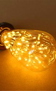 3 E26/E27 LED 글로브 전구 ST64 54 딥 LED 800 lm 따뜻한 화이트 장식 AC 220-240 V 1개
