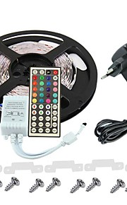 KWB 3528 LED RGB stripe lys 300leds 44key ir fjernkontroll strømforsyning perfekt for alle typer dekorasjon stiler