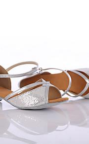 Sapatos de Dança(Prateado / Dourado) -Feminino-Personalizável-Latina / Tênis de Dança