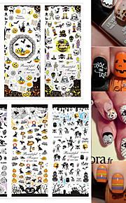 3pcs Nagel-Kunst-Aufkleber Wassertransfer Abziehbilder Cartoon Design Make-up kosmetische Nail Art Design