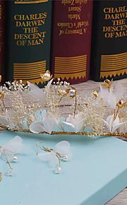 Women's Rhinestone / Alloy / Imitation Pearl / Fabric Headpiece-Wedding / Special Occasion / Casual Wreaths 1 Piece