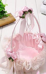 The New Manual Cany Bamboo Weaving Wedding Bridesmaid Wedding Flower Girl Basket Basket Portable Petals