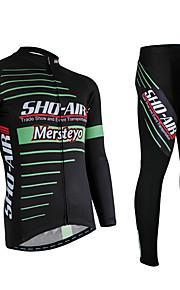 Deportes Hombres Mangas largas BicicletaTranspirable / Secado rápido / Diseño Anatómico / Resistente a los UV / Permeabilidad a la humeda