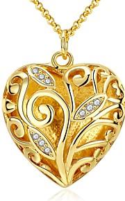 Modische Halsketten Schmuck Party / Alltag / Normal Einzigartiges Design / Anhänger Stil Zirkon Damen 1 Stück Geschenk Goldfarben