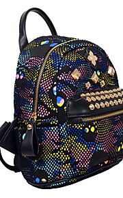 Women PU Casual / Event/Party / Outdoor / Shopping Backpack Multi-color