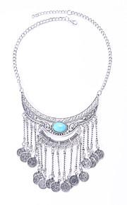 Modische Halsketten Smaragd / Obsidian Schmuck Hochzeit / Party / Alltag / Normal Modisch / Euramerican Aleación Silber 1 Stück Geschenk