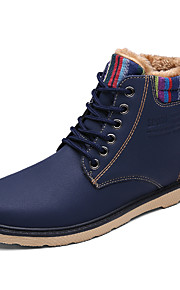 Men's Boots Fall / Winter Others PU Outdoor / Casual Flat Heel Buckle / Studded Black / Blue / Yellow / Khaki Walking / Others