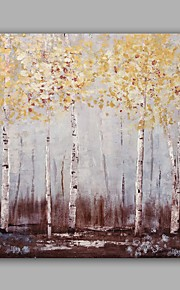 Hand-Painted Abstract / Tree Classic/Modern One Panel Canvas Oil Painting For Home Decoration
