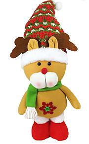 Joulukoristeet Lomatarvikkeet Joulupukki-asu / Hirvi / Lumiukko Tekstiili Beige / Hopea / Ivory Kaikki