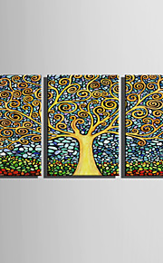 E-HOME Stretched Canvas Art Fantastic Trees Decoration Painting  Set Of 3