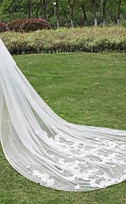Veli da sposa 2 strati Velo lungo (con strascico) Senza bordo Tulle