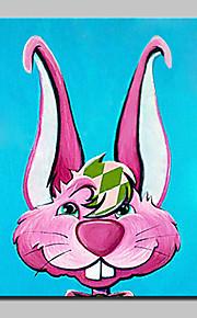 Maalattu Abstrakti / Eläin öljymaalauksia,Moderni 1 paneeli Kanvas Hang-Painted öljymaalaus For Kodinsisustus