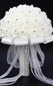 Set of 1 PCS 2 분기 폴리에스터 장미 테이블  플라워 인공 꽃 Long 9.84(inch)