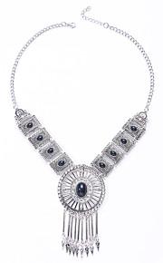 Modische Halsketten Obsidian Schmuck Hochzeit / Party / Alltag / Normal Modisch / Euramerican Aleación Schwarz / Silber 1 Stück Geschenk