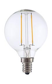 2W E12 Ampoules à Filament LED G16.5 2 COB 200 lm Blanc Chaud Gradable V 1 pièce